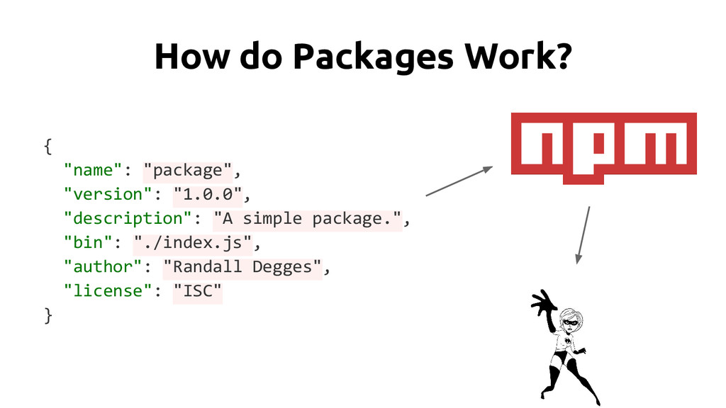 """How do Packages Work? { """"name"""": """"package"""", """"ver..."""
