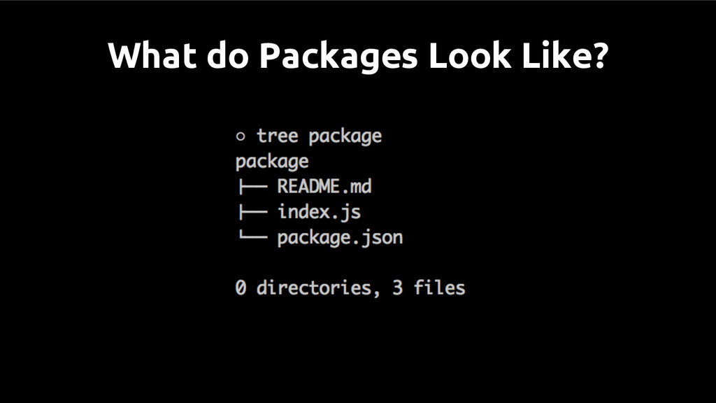 What do Packages Look Like?