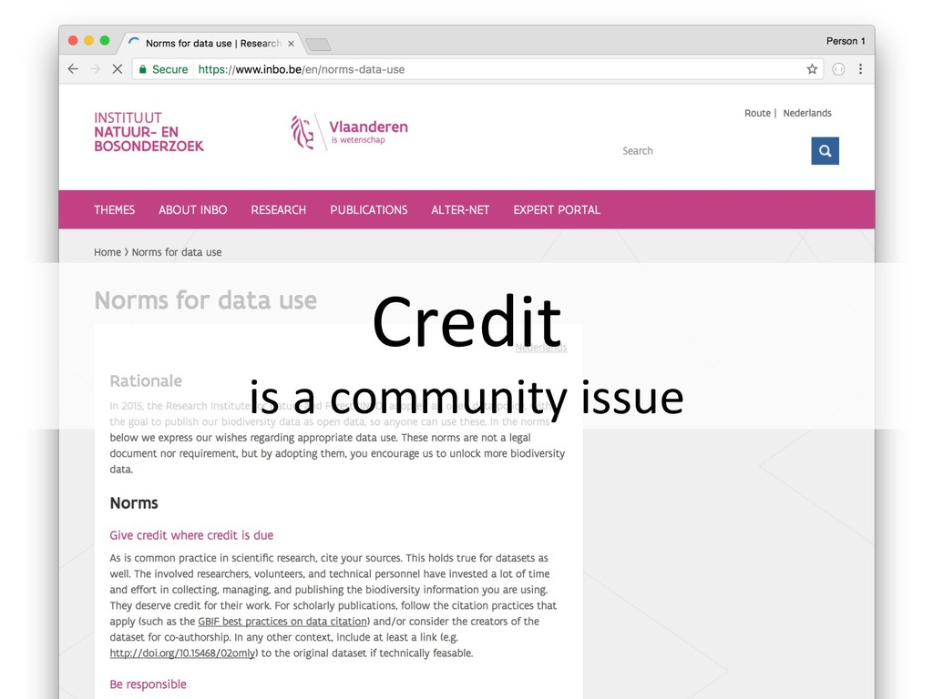 Credit is a community issue