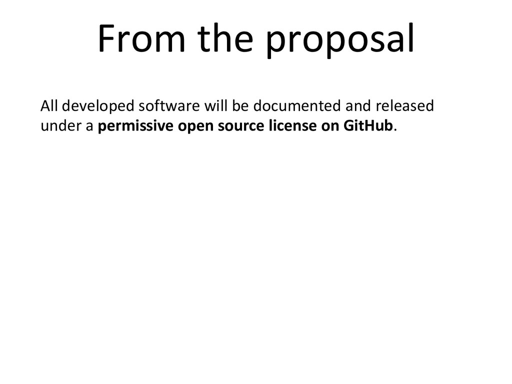All developed software will be documented and r...