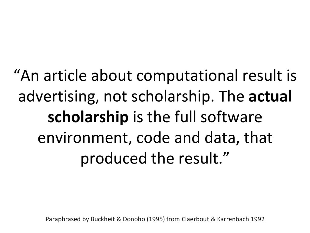 """""""An article about computational result is adver..."""