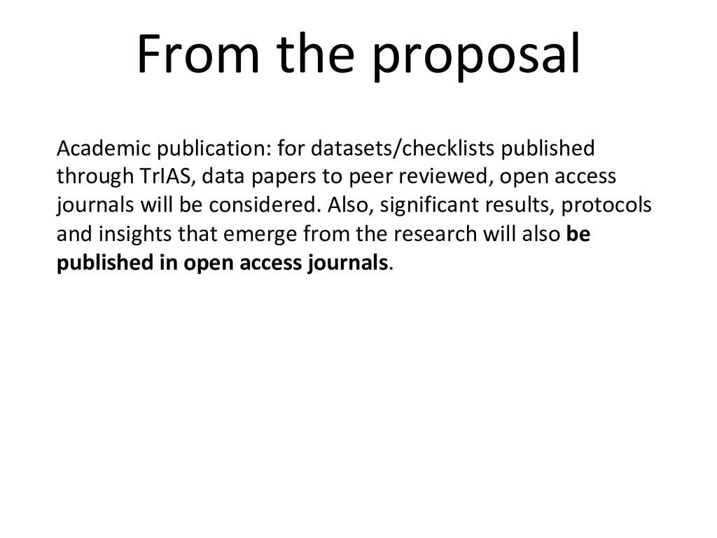 Academic publication: for datasets/checklists p...
