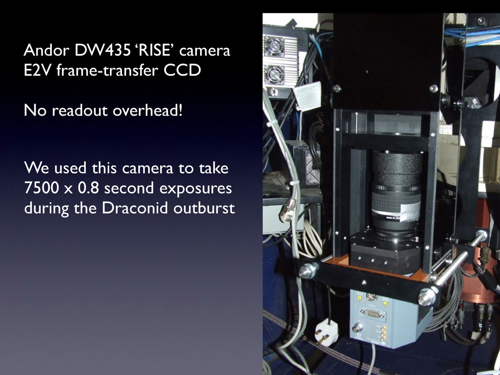 We used this camera to take 7500 x 0.8 second e...