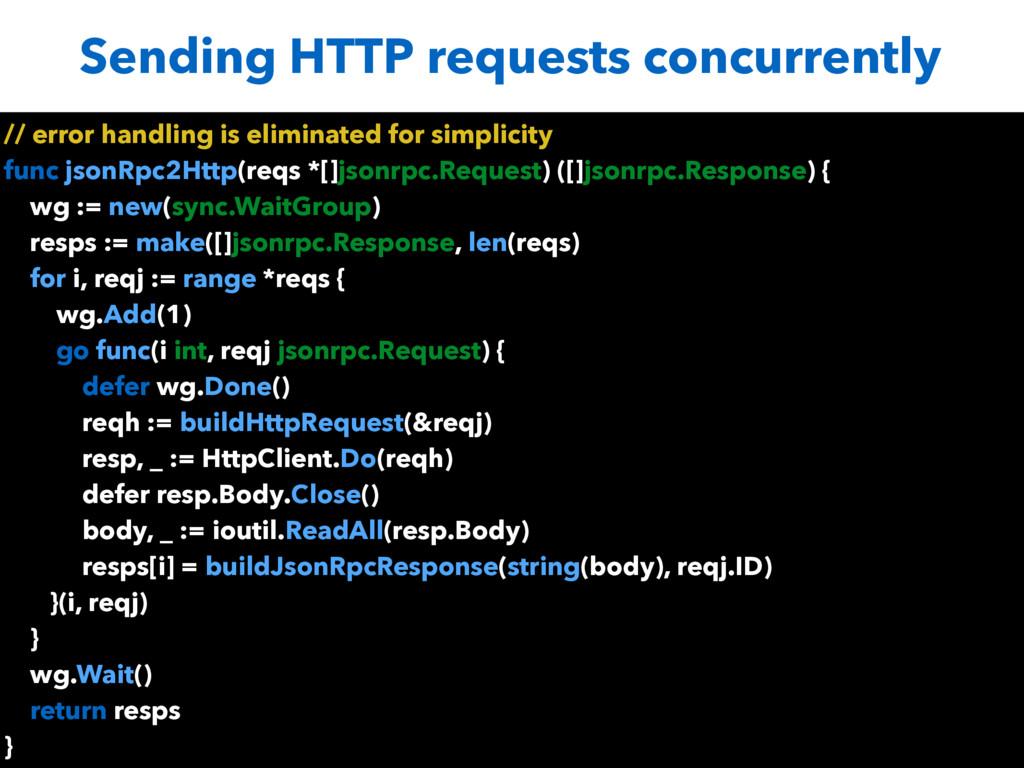 Sending HTTP requests concurrently // error han...