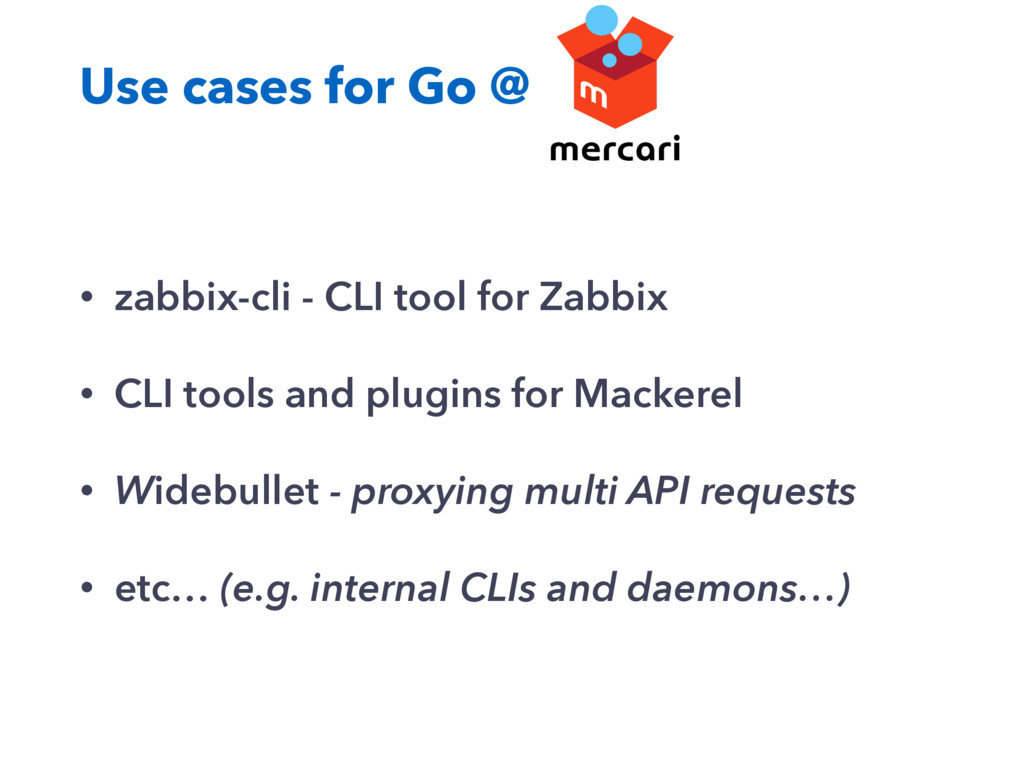 Use cases for Go @ • zabbix-cli - CLI tool for ...