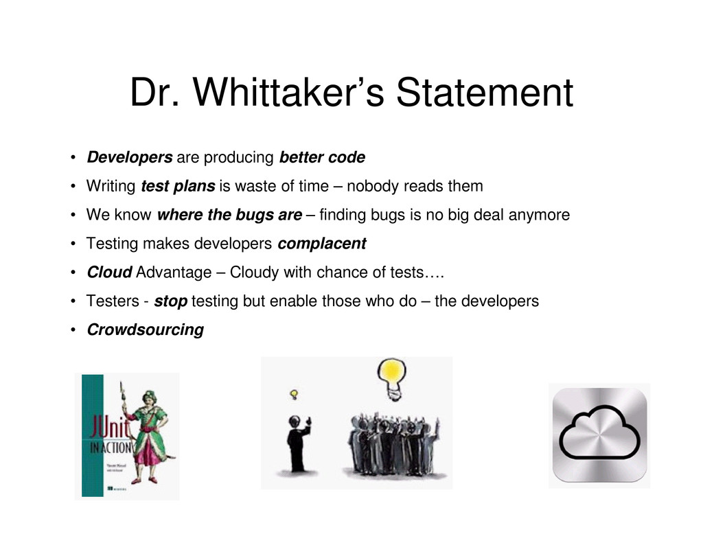 Dr. Whittaker's Statement • Developers are prod...
