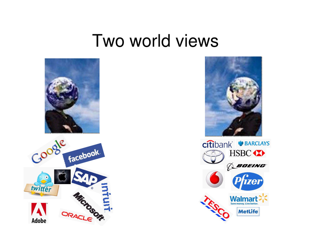 Two world views