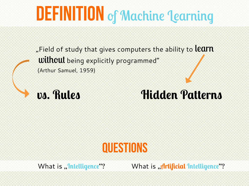 """questions Definition of Machine Learning """"Field..."""