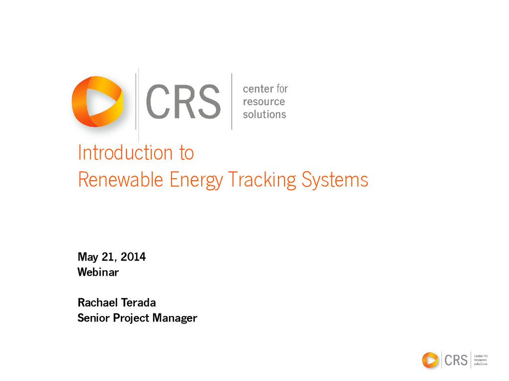 Introduction to Renewable Energy Tracking Syste...