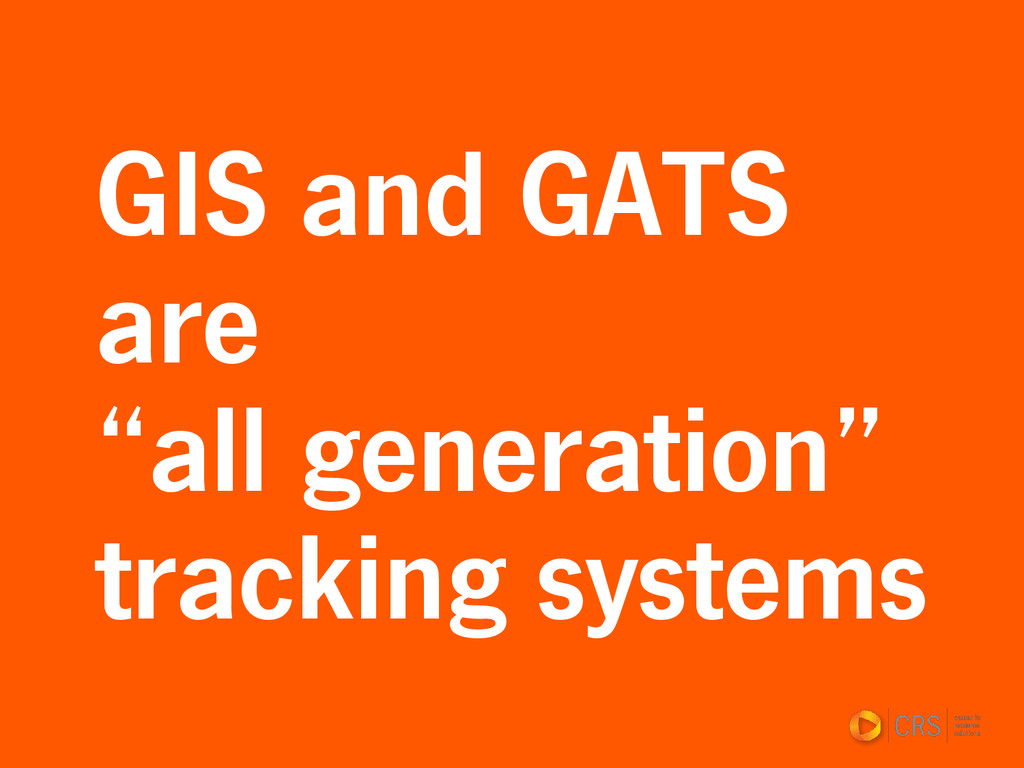 """GIS and GATS are """"all generation"""" tracking syst..."""