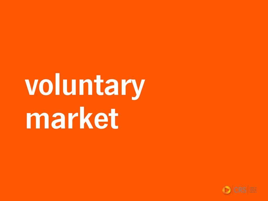 voluntary market