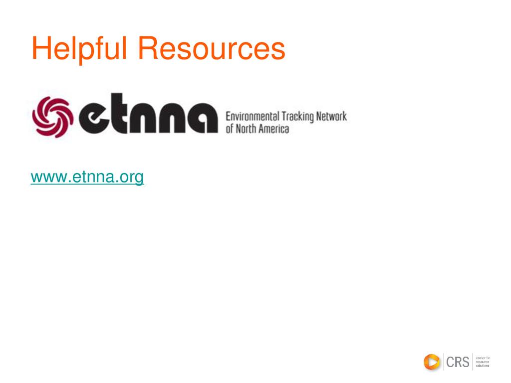 Helpful Resources www.etnna.org