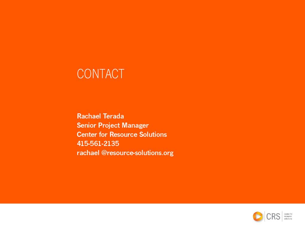 Rachael Terada Senior Project Manager Center fo...