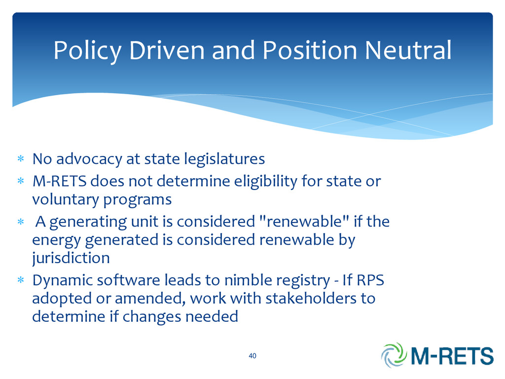 Policy Driven and Position Neutral 40  No advo...