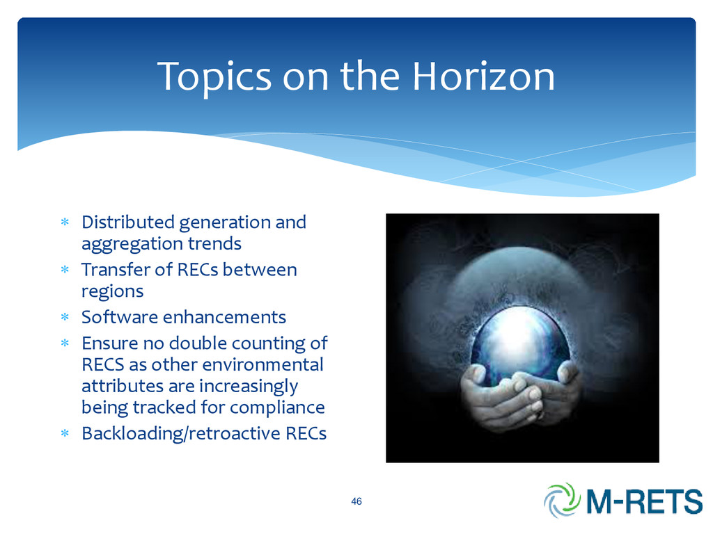 Topics on the Horizon 46  Distributed generati...