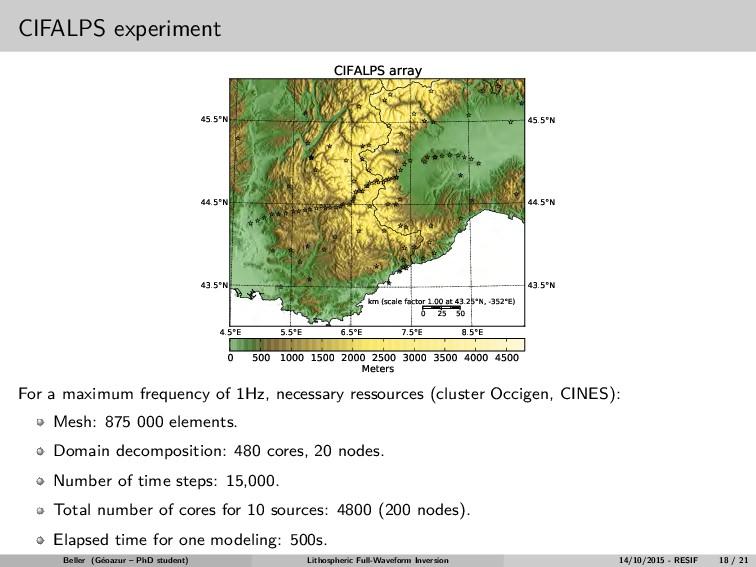 CIFALPS experiment 43.5°N 44.5°N 45.5°N 43.5°N ...