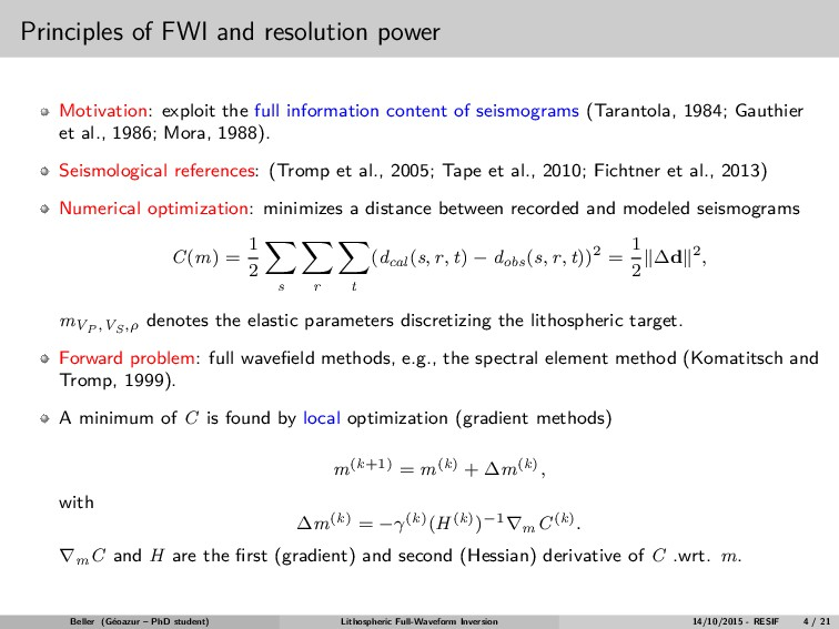 Principles of FWI and resolution power Motivati...