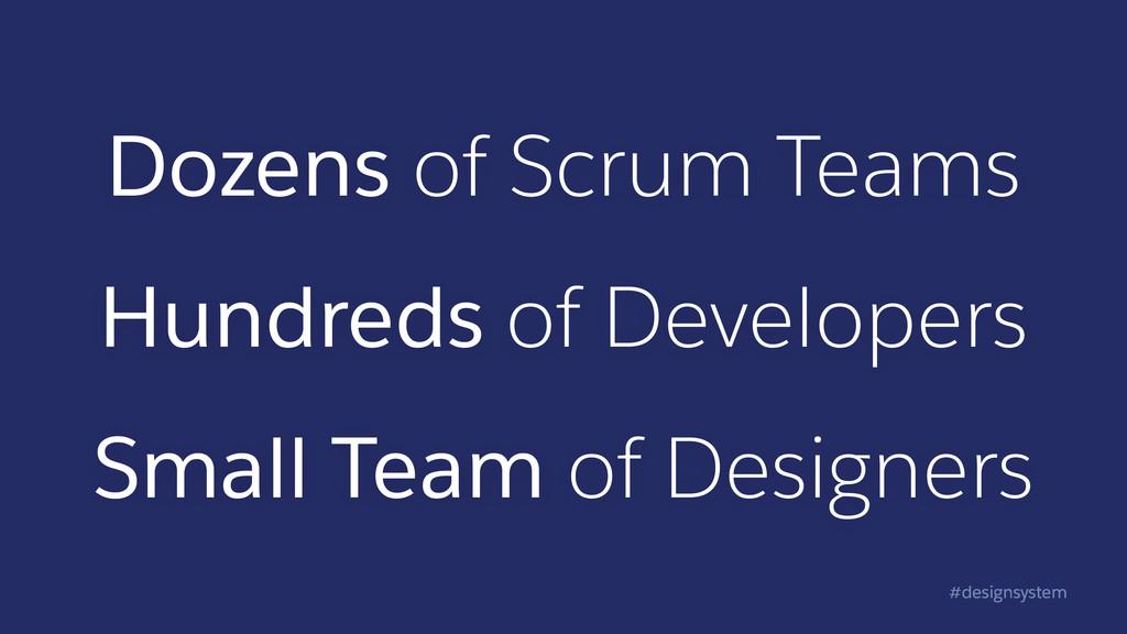 #designsystem Dozens of Scrum Teams Hundreds of...