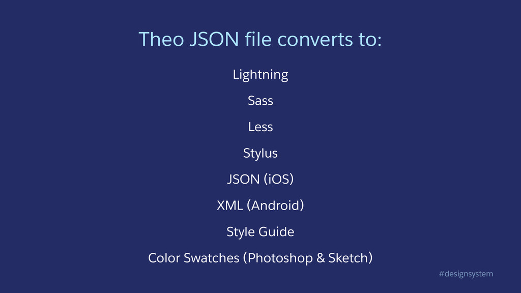 #designsystem Theo JSON file converts to: Light...