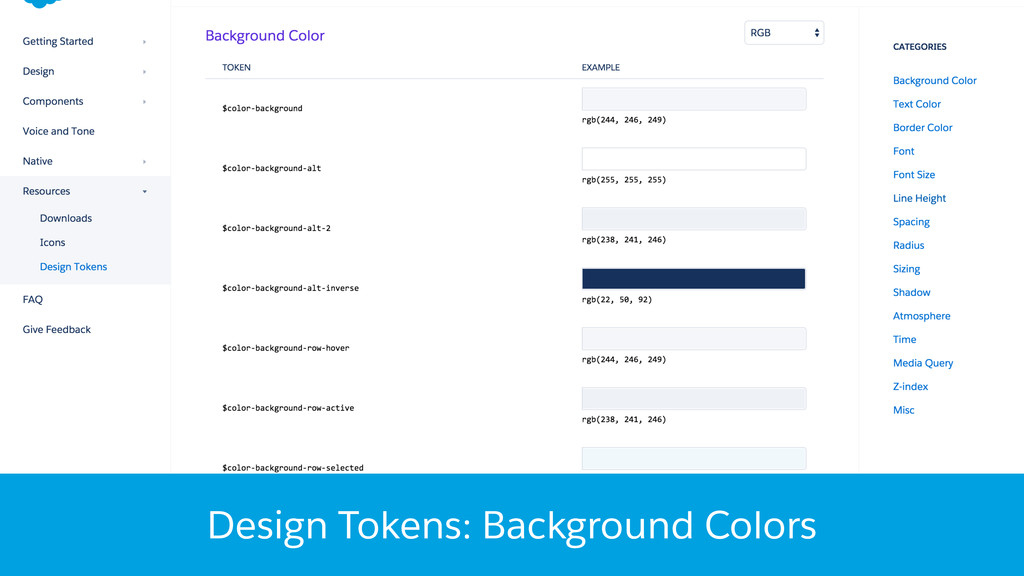 Design Tokens: Background Colors