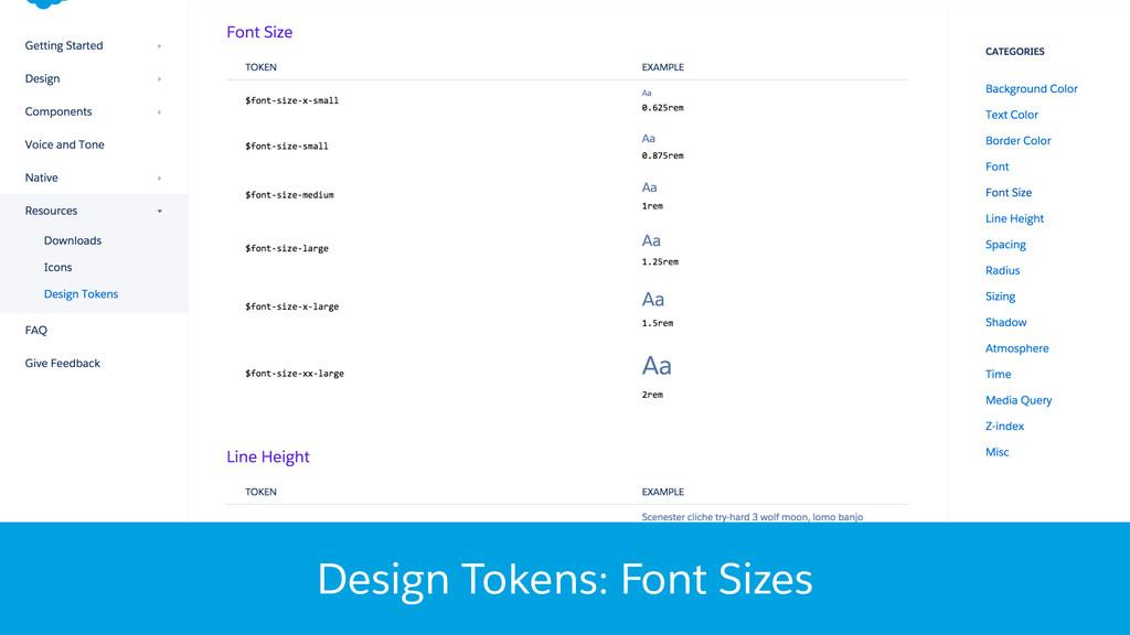 Design Tokens: Font Sizes