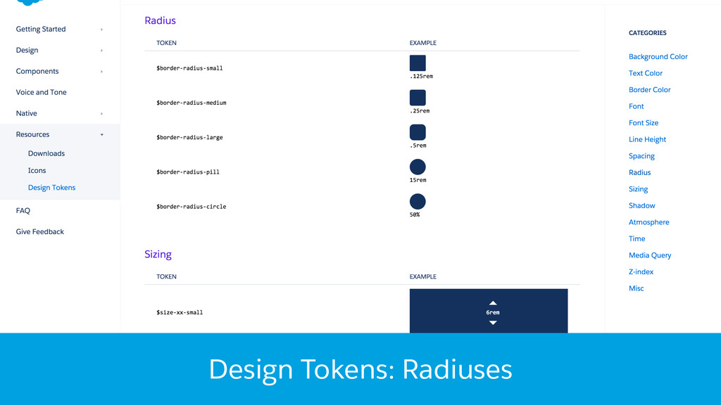 Design Tokens: Radiuses