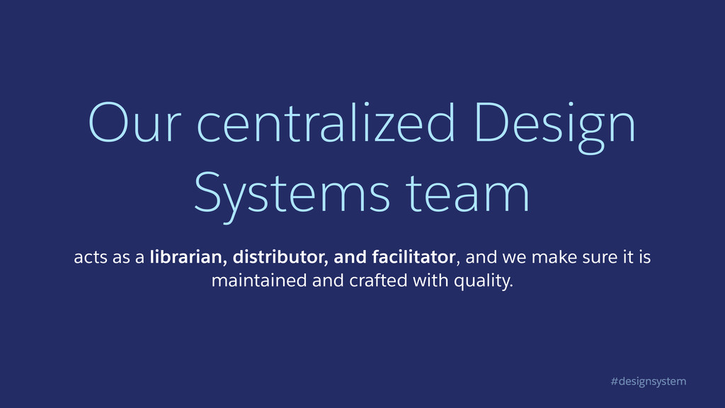 #designsystem Our centralized Design Systems te...