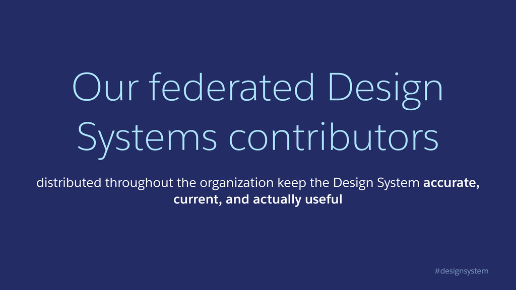 #designsystem Our federated Design Systems cont...