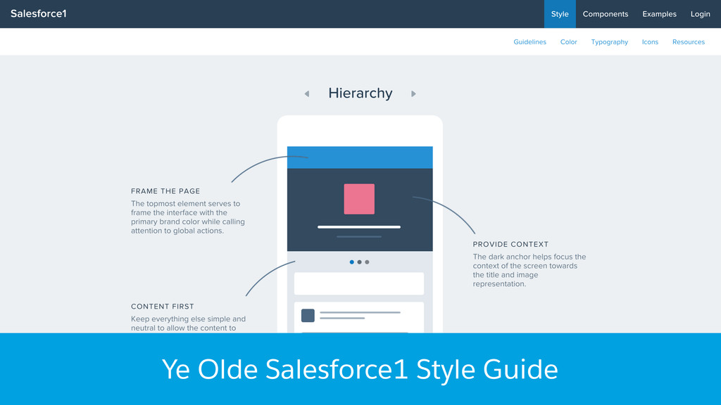 Ye Olde Salesforce1 Style Guide