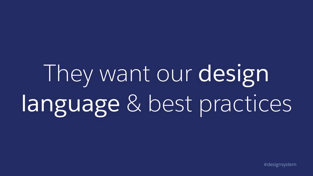 #designsystem They want our design language & b...