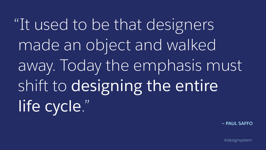 """#designsystem """"It used to be that designers mad..."""