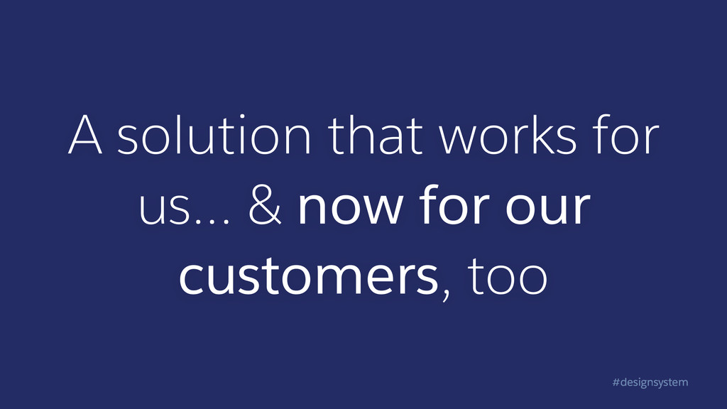 #designsystem A solution that works for us… & n...