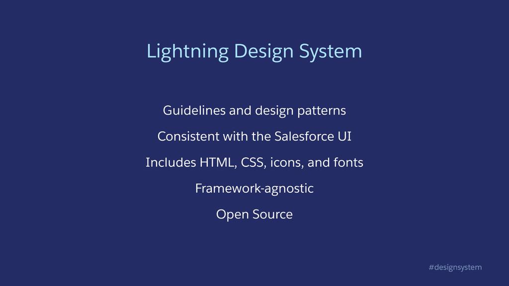 #designsystem Lightning Design System Guideline...