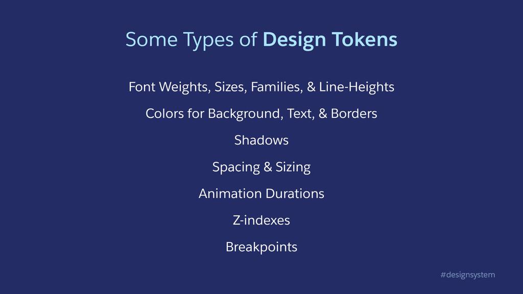 #designsystem Some Types of Design Tokens Font ...