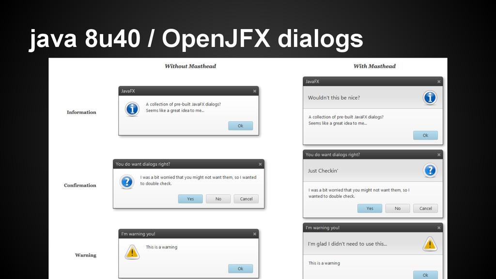 java 8u40 / OpenJFX dialogs