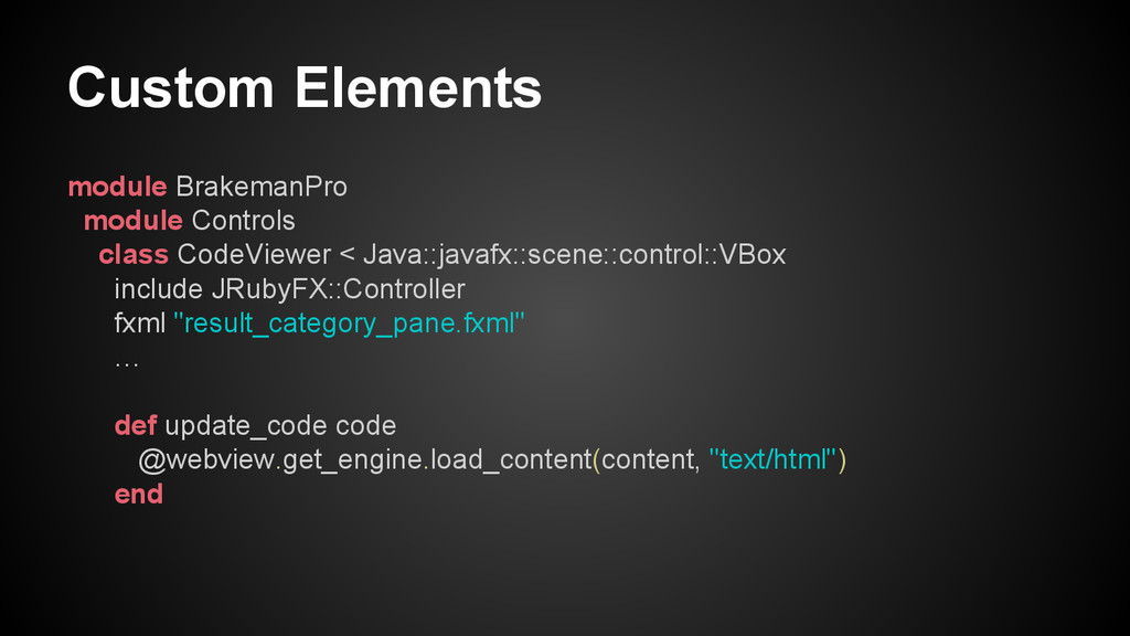 Custom Elements module BrakemanPro module Contr...