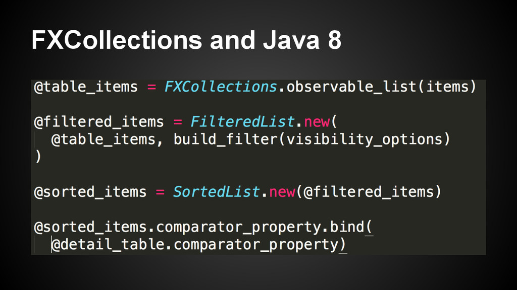 FXCollections and Java 8