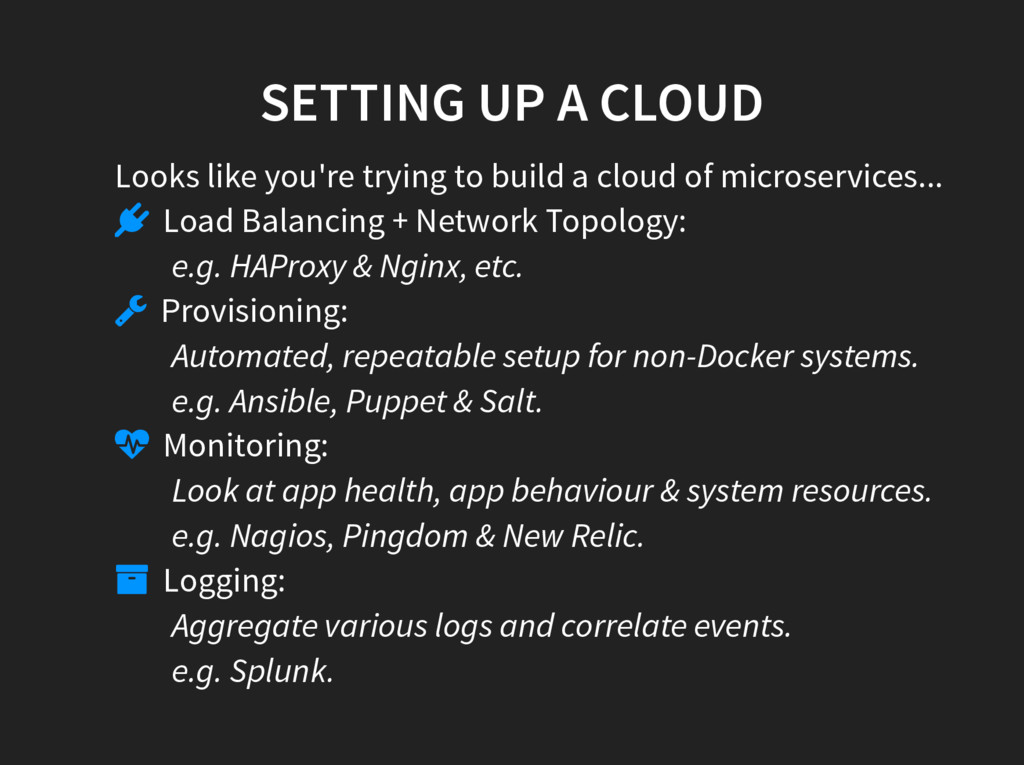 SETTING UP A CLOUD Looks like you're trying to ...