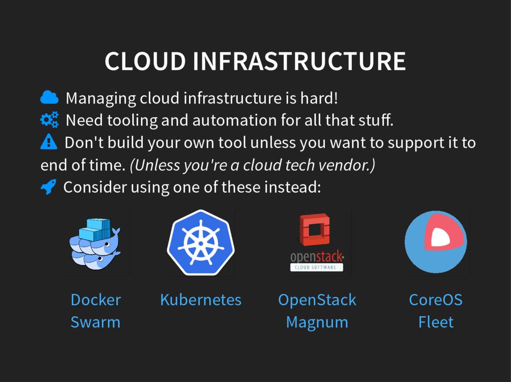 CLOUD INFRASTRUCTURE  Managing cloud infrastru...