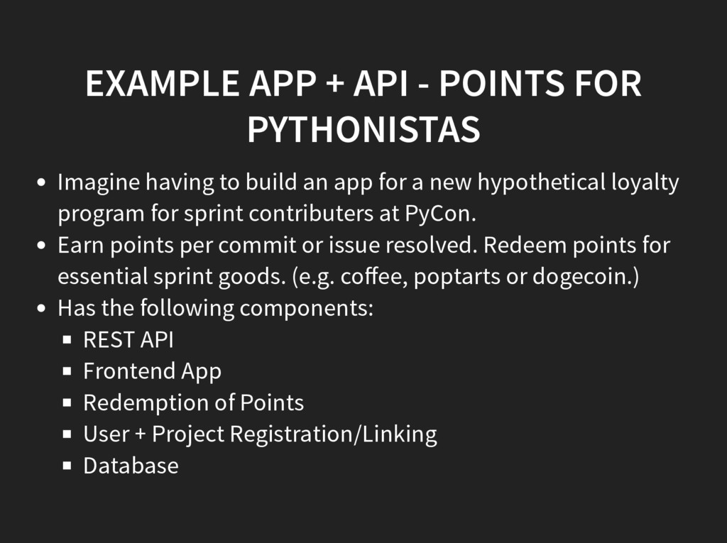 EXAMPLE APP + API - POINTS FOR PYTHONISTAS Imag...