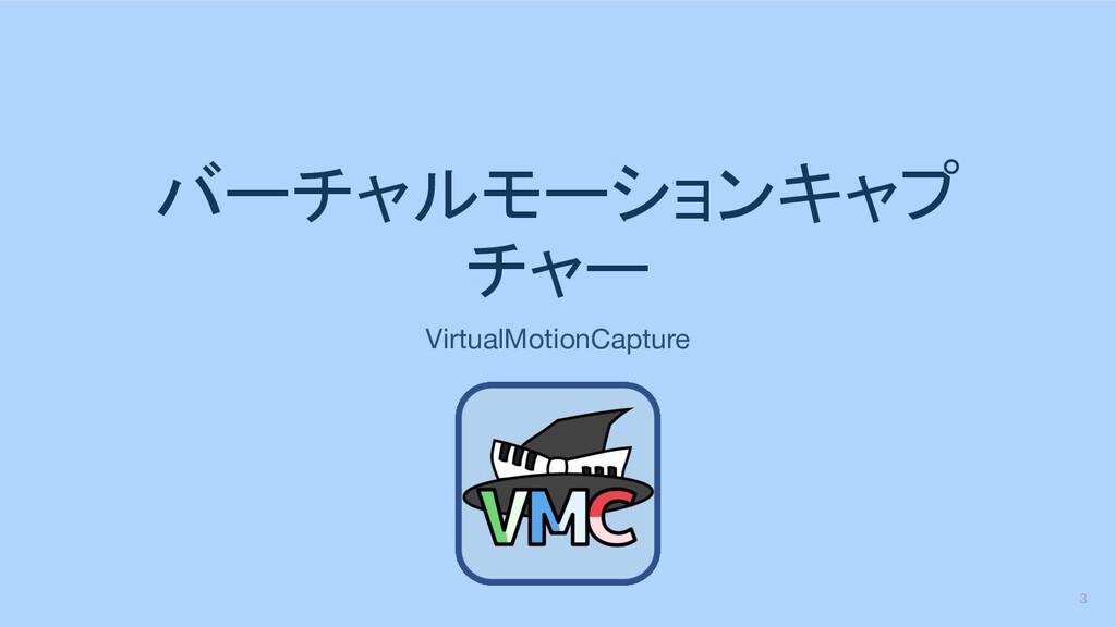 バーチャルモーションキャプ チャー VirtualMotionCapture 3