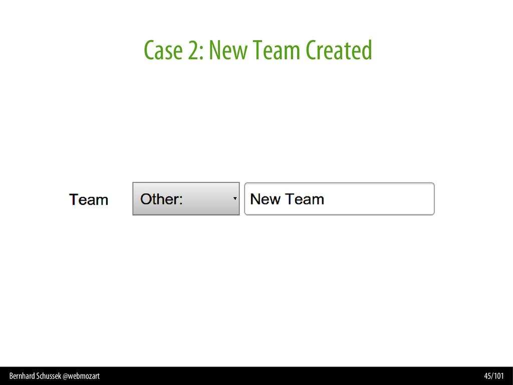 Bernhard Schussek @webmozart 45/101 Case 2: New...