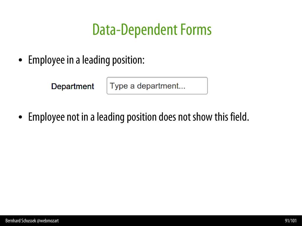 Bernhard Schussek @webmozart 91/101 Data-Depend...