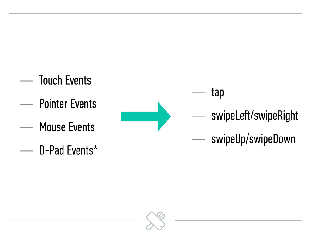 — Touch Events — Pointer Events — Mouse Events ...