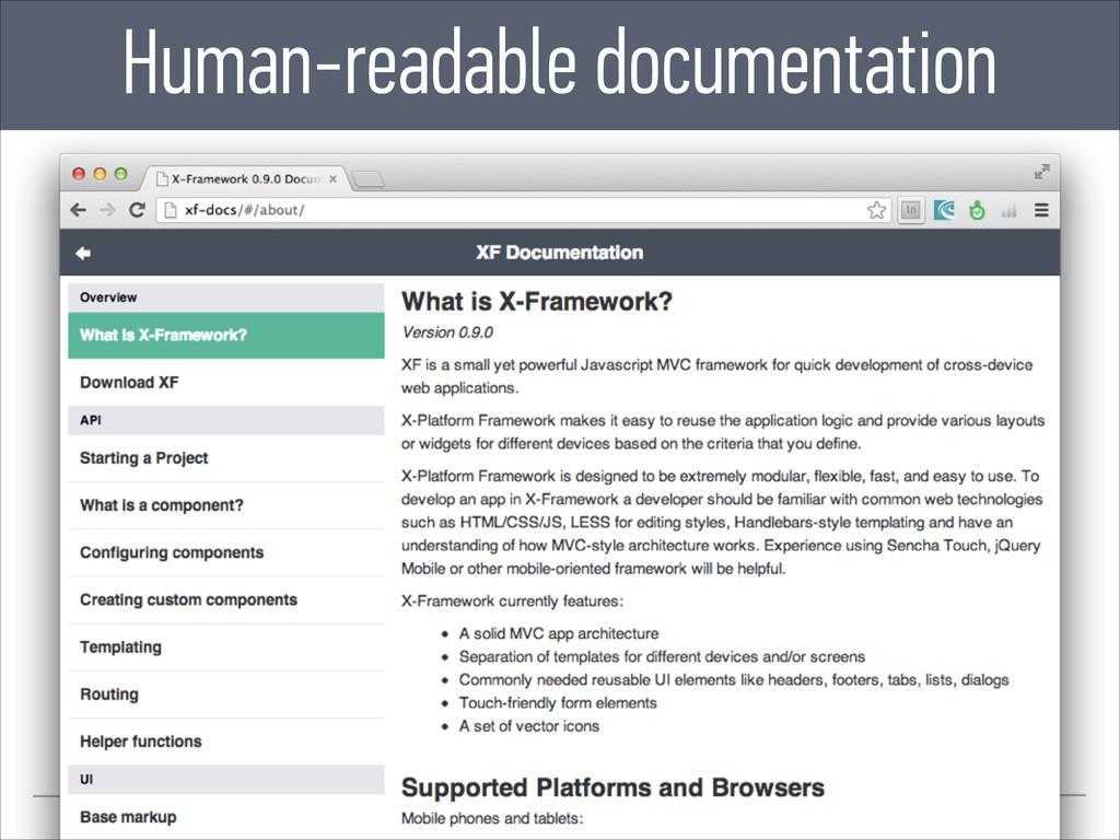 Human-readable documentation