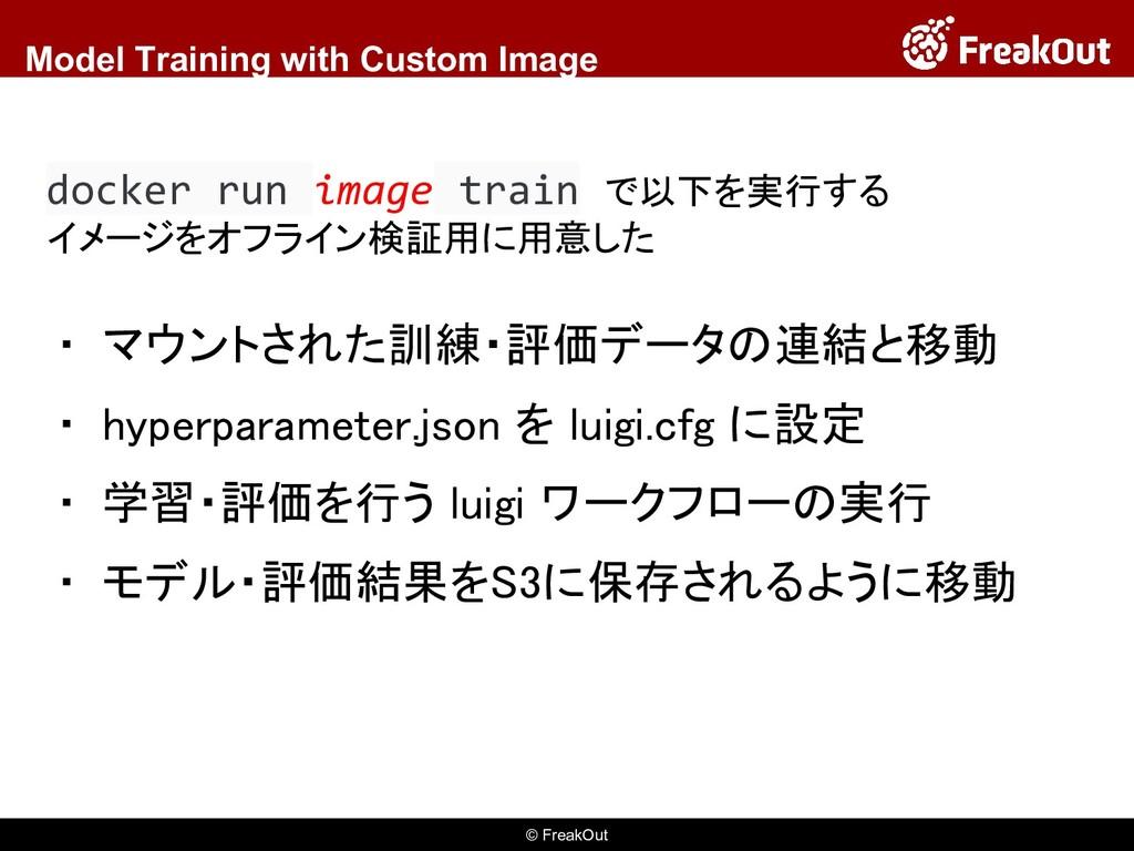 © FreakOut Model Training with Custom Image ▪ マ...