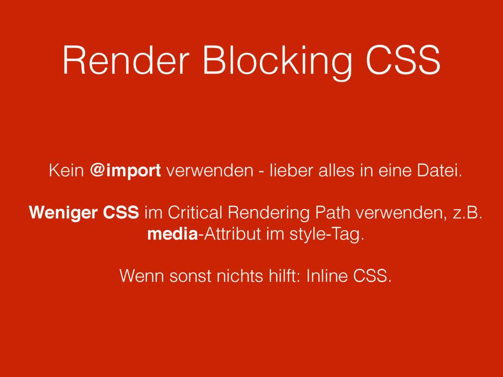 Render Blocking CSS Kein @import verwenden - li...