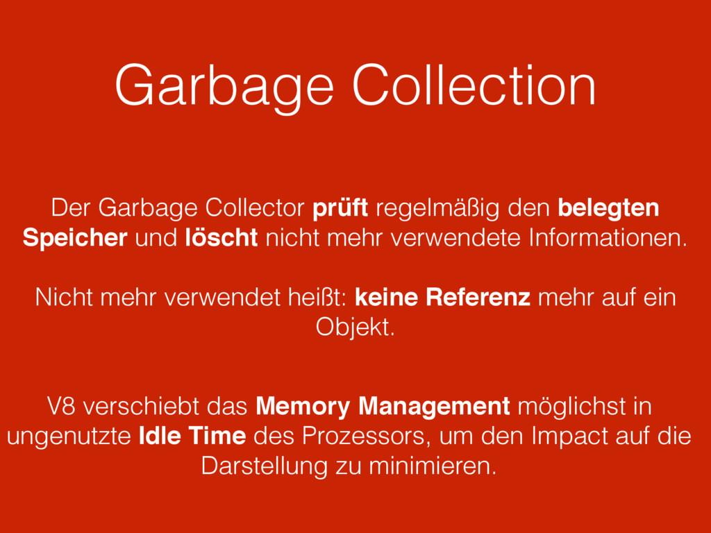 Garbage Collection V8 verschiebt das Memory Man...