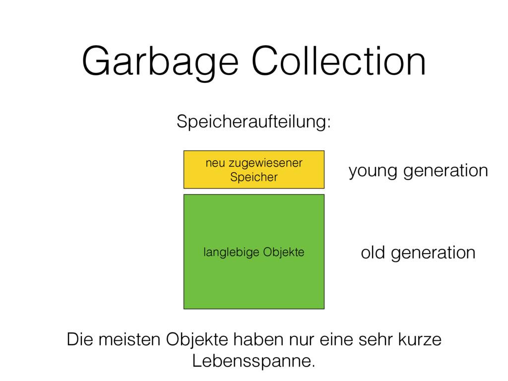 Garbage Collection neu zugewiesener Speicher la...