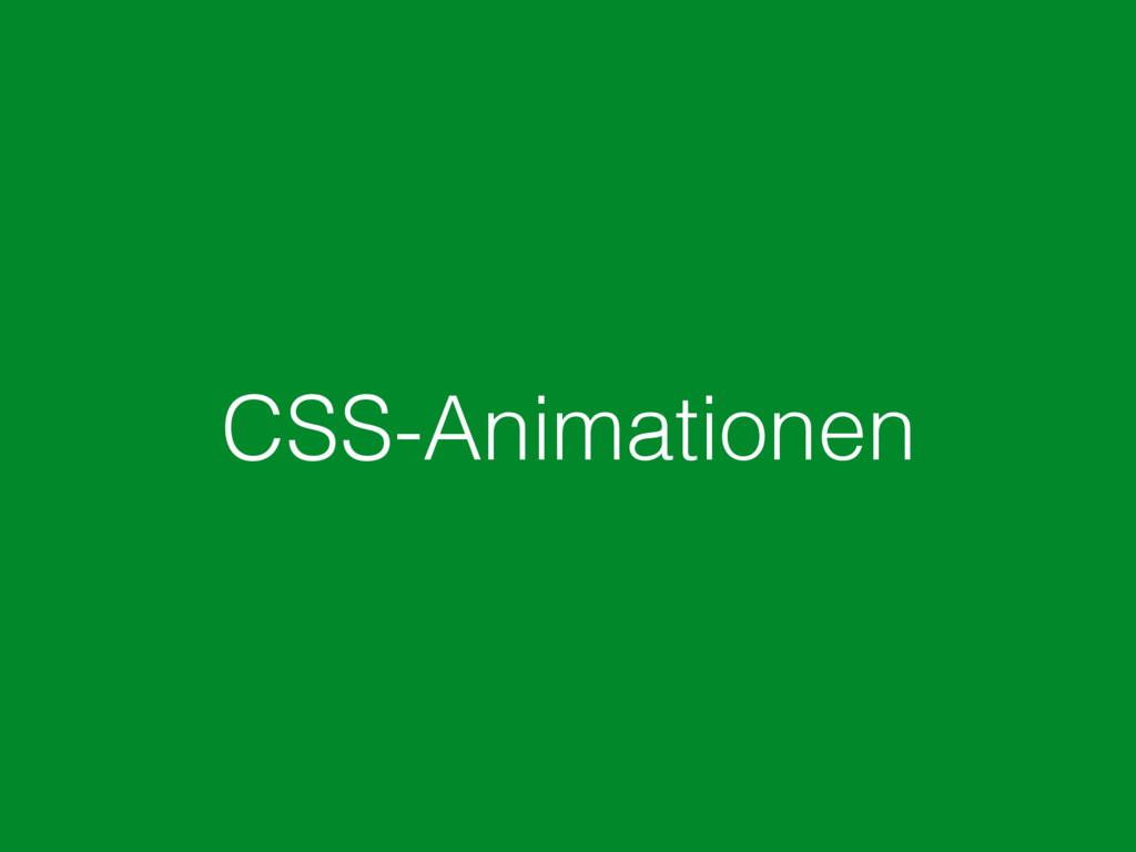 CSS-Animationen